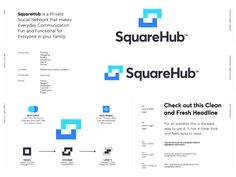 SquareHub - Logo redesign Proposal designed by Jeroen van Eerden. Connect with them on Dribbble; the global community for designers and creative professionals. Logos, Logo Branding, Coin Logo, Brand Presentation, Learning Logo, Logo Sign, Modern Logo Design, Logo Concept, Identity Design