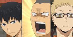 tanaka's face. Volleyball Clubs, Volleyball Anime, Tanaka Haikyuu, Baby Crows, Kageyama, Princess Zelda, Disney Princess, Hetalia, Disney Characters