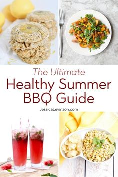 Enjoy cookouts without sacrificing fun or flavor with this ultimate healthy summer barbecue guide including recipes, cooking tips, and more! Summer Recipes, Healthy Dinner Recipes, Real Food Recipes, Food Tips, Holiday Recipes, Watermelon And Lemon, Grilled Fruit, Side Dishes For Bbq, Cookout Food