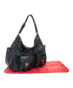 Take a look at this Black Patent Sweet Pea Diaper Bag by Amy Michelle on #zulily today!