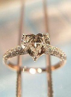 Diamond Heart Ring.