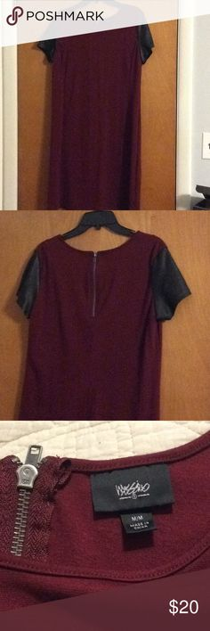 """Crimson shift dress Sleeves are """"non leather material"""" Mossimo Supply Co. Dresses"""