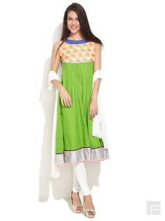 Kalidar Suit With Embroidered Bodice Online | Buy SPAN Churidar suit India.