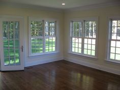 Traditional stool apron window casing carpentry ideas for Baseboards doors and more