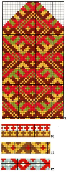 Russian mitten chart