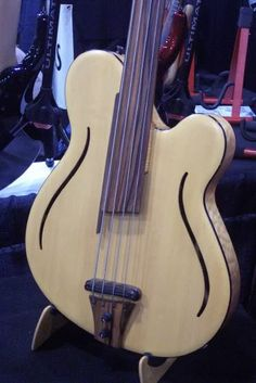 Fretless... Azola Deco Bass.  My understanding is Azola Bass has closed their doors due to the economic downturn. You can still see their builds on their Facebook page at least for the time being. October 21, 2013