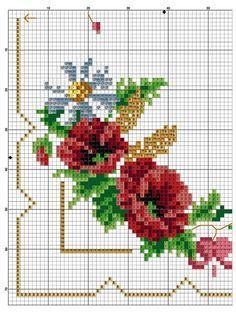 Resultado de imagen para esquemas de punto de cruz de narcisos