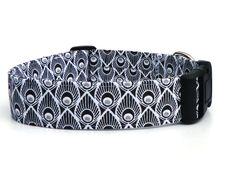 Hund: Halsbänder - Hundehalsband schwarz weiß Pfauenauge - ein Designerstück von pepanella bei DaWanda