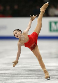 Adelina Sotnikova of Russia performs during the women's short program at the European Figure Skating Championships in Budapest, Hungary, Wednesday, Jan. 15, 2014. (AP Photo/Darko Bandic)