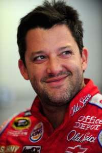 Tony Stewart.   Yeah, he's scruffy but I love his sense of humor and he sure can drive!