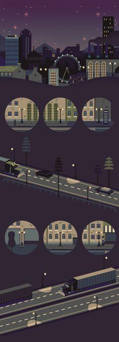 Designspiration — Design Inspiration nigh vector street scene
