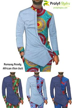 african style clothing Command the attention in this African Style Men's Suit Now you can add variations to your style when you include men's African attire in your wardrobe. African Wear Styles For Men, African Shirts For Men, African Attire For Men, African Clothing For Men, African Style, Traditional African Clothing, Couples African Outfits, African Dresses Men, Latest African Fashion Dresses