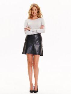 MINI SPÓDNICZKA DAMSKA MINI Leather Skirt, Chanel, Skirts, Model, Vegan, Outfits, Tops, Fashion, Leather