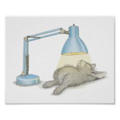 The HappyHoppers Wall Art Poster - Cute bunny rabbit getting a tan <3