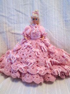Crochet Victorian Doll Dress Lady In Shades of by PeggysDollShoppe, $45.00