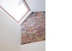 where to look for distressed brick. where to look. Loft Conversions, Attic Conversion, Narrow House Designs, House By The Sea, Ceiling Detail, Thing 1, Loft Ideas, Bedroom Loft, Exposed Brick