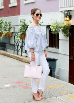 ade6f9759a8113 ChicWish off the shoulder top New York Street Style