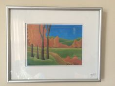 Semi-Abstract Landscape - Limited Edition Pastel Print - Framed - Signed by Artist - Suzanne Dallaire - approx x including frame Art Painting, Abstract Landscape, Painting, Pastel Print, Painting Prints, Art, Abstract, Prints