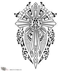 Tatuaggio di Sole tartaruga Filippino, Famiglia, fede tattoo - custom tattoo designs on TattooTribes.com