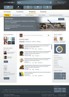 Finning - SharePoint 2013; Visual Design; Wireframe by Akanksha Goyal, via Behance