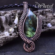 Wire Wrapped Labradorite Necklace Pendant - Wire Wrapped by ©2014 Tim Whetsel Jewelry Sold 20 minutes after I put it in my shop!