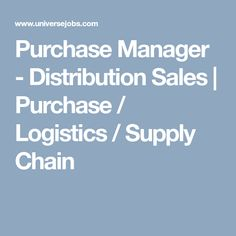 Looking for Purchase Manager - Distribution Sales job?, we have opening in Purchase / Logistics / Supply Chain. required 2 years in Purchase / Logistics / Supply Chain field. Sale Purchase, Logistics Supply, Sales Jobs, Looking For A Job, Marketing Jobs, Supply Chain, How To Stay Motivated, Job Search