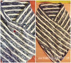 Else von pruella mit Kragen-Tutorial Sewing Blouses, Sewing Shirts, Sewing Pants, Sewing Patterns Free, Sewing Tutorials, Hoodie Pattern, Love Jeans, Shirt Refashion, Crochet Blouse
