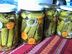 Romanian Food, Romanian Recipes, Canning Pickles, Preserves, My Recipes, Cucumber, Diy And Crafts, Food And Drink, Yummy Food