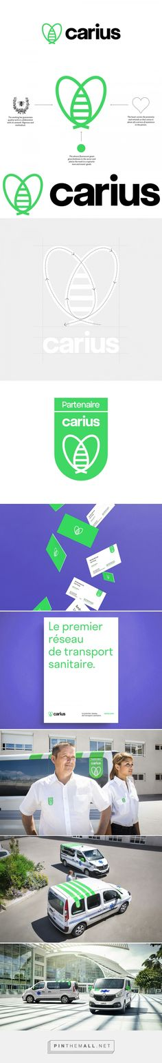 Brand New: New Logo and Identity for Carius by Content Design Lab... - a grouped images picture - Pin Them All