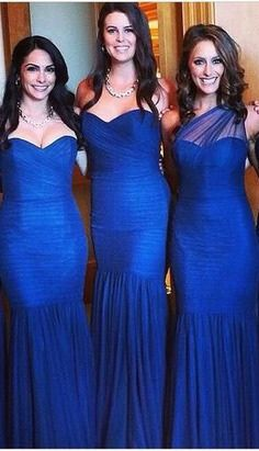 elegant bridesmaid dresses,Royal Blue Mermaid Custom Made Bridesmaid Dresses,Bridesmaid Dresses,Bridesmaid Dresses