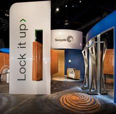 Seagate Stand Custom Exhibits - Exhibit Works - EWI Worldwide