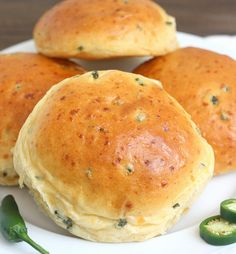 Jalapeño Cheddar Rolls by Tracey's Culinary Adventures, via Flickr