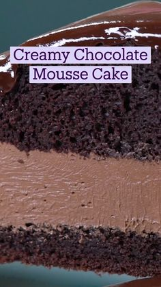 Chocolate Mousse Cake, Easy Flourless Chocolate Cake, Easy Chocolate Cake Recipe, Chocolate Recipes, Easy Chocolate Desserts, Easy To Make Desserts, Fun Baking Recipes, Sweet Recipes, Cake Recipes