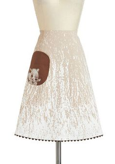 Hide and Sleek Skirt, #ModCloth - perfect for that squirrel-obsessed wedding guest  ; )