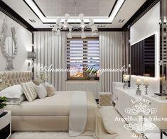 Дизайн проект интерьера спальни в стиле Ар Деко на Ленинском. Фото 2018 - Спальни