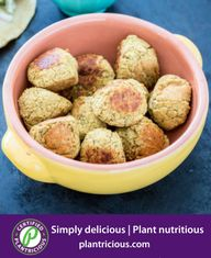 Crispy Baked Falafels-(Forks Over Knives) Perfect in a sandwich or appetizer or snack with a Plantricious dip Baked Falafel, Falafel Recipe, New Recipes, Whole Food Recipes, Vegan Recipes, Falafels, Food Categories, Wrap Sandwiches, Vegan Dishes