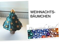 Nespresso Deko & Schmuck Anleitung - Weihnachts-Bäumchen - die magische ... Christmas Bells, Christmas Crafts, Christmas Ornaments, New Years Decorations, Dyi Crafts, Recycling, Projects To Try, Quilling, Crafty