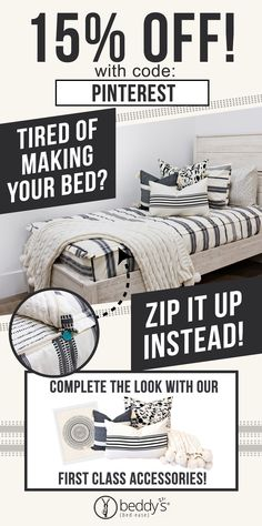 "Start your morning off right! With Beddy's we make it easy! All you do is zip! Use code ""PINTEREST"" for a discount! #beddys #beddysbeds #zipperbedding #zipyourbed #bunkbeds Teen Bedroom, Bedroom Ideas, Bedroom Decor, Twin Room, Boy Room, Camping Life, Rv Life, Beddys Bedding, Rv Living"