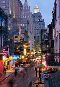 New Orleans- Bourbon Street - AMAZING PLACE- I think everyone needs to experience it at least once.  The food is crazy ridiculous too.