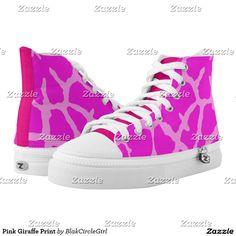 Pink Giraffe Print Printed Shoes