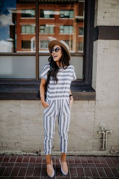 Don't think you can pull off stripes? This jumpsuit will change your mind with all the right stripes in all the right places. Complete with pockets!