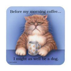 Coffee Cat coasters