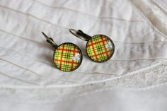 Red Earrings, Antique Earrings, Antique Gold, Dangles, Cufflinks, Handmade Jewelry, Retro, Antiques, Yellow