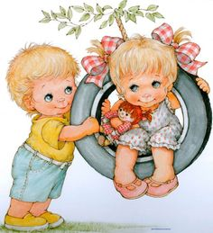 RB Cute Images, Cute Pictures, Painting For Kids, Art For Kids, Cute Disney Drawings, Baby Art, Cute Illustration, Fabric Painting, Vintage Children