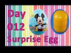 dia 012 ovo surpresa kinder disney mickey mouse - YouTube