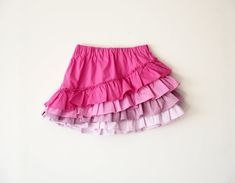Shapla Ruffle Skirt PDF Sewing Pattern tutorial girls by Tikatuly