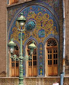 Glazed tiles of the former royal Golestan Palace, or The Rose Garden Palace, in Tehran, Iran by youngrobv