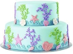 mermaid cake! This is so cute and I could totally do this!!!                                                                                                                                                                                 More