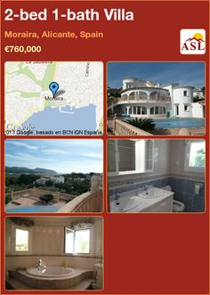 2-bed 1-bath Villa in Moraira, Alicante, Spain ►€760,000 #PropertyForSaleInSpain