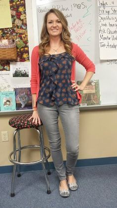 Teacher Clothing Blog Gray & Coral